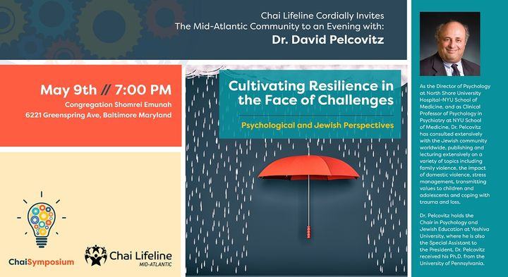 BaltimoreJewishLife com   Tonight! Cultivating Resilience featuring